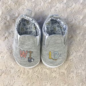 Child of Mine by Carter's Wild Baby Shoes Gray